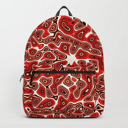 Abstract fractal red marbleized psychedelic plasma Backpack