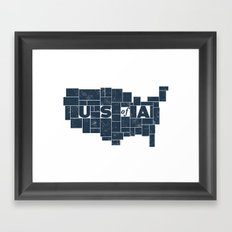 U S of A Framed Art Print