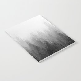Into The Misty Nature - Black & White Notebook