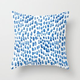 Indigo Droplets Pattern Throw Pillow