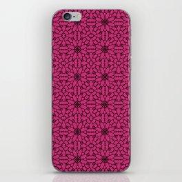 Pink Yarrow Lace iPhone Skin