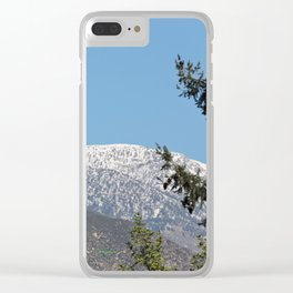 Southern California Snow Tease Clear iPhone Case
