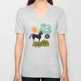 magical horse garden Unisex V-Neck