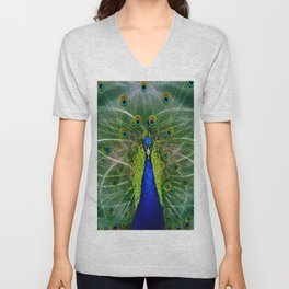Peacock dreamcatcher Unisex V-Neck