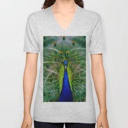Peacock dreamcatcher Unisex V-Neck