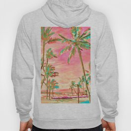Beach at Mauna Lani Bay, Hawaii Peach Hoody