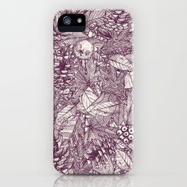forest floor berry ivory iPhone Case