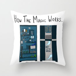 The magic of Coffee Throw Pillow