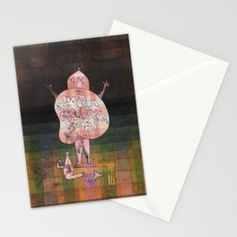 Ventriloquist and Crier in the Moor Paul Klee Stationery Cards