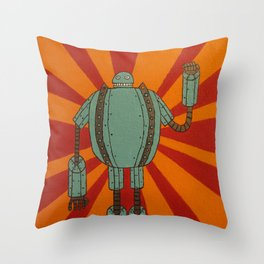 The Iron Skellington Throw Pillow