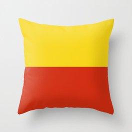 Flag of Prague Throw Pillow