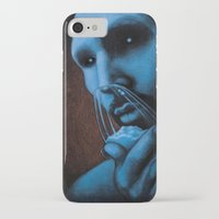 cocaine iPhone & iPod Cases featuring Cocaine Blue by Michal Szyksznian