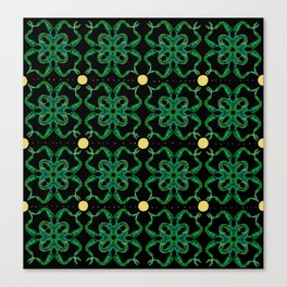 Clover Gold Pattern Canvas Print