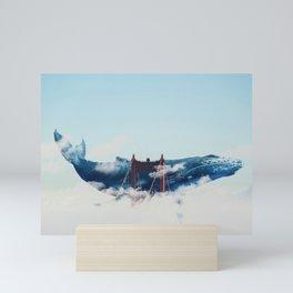 Whale Watching San Fran Mini Art Print
