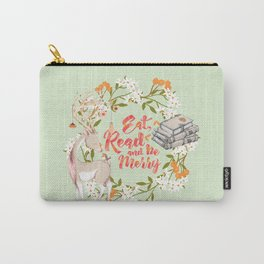 Eat, Read & Be Merry - Deer Carry-All Pouch