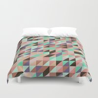 triangle Duvet Covers featuring Triangle by Crazy Thoom
