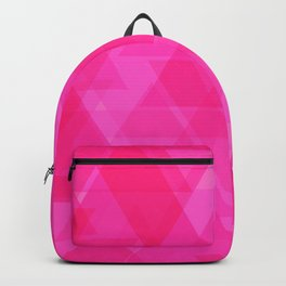 Bright pink triangles in intersection and overlay. Backpack