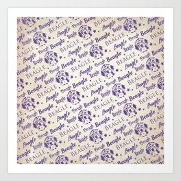 Beagle dog pattern Art Print