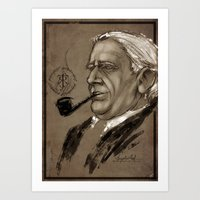 tolkien Art Prints featuring J.R.R. Tolkien by Angelica Arfini