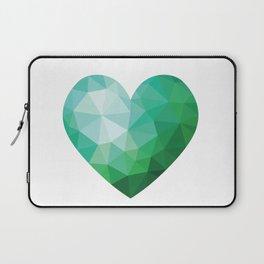 Teal Broken Heart Laptop Sleeve