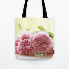 Wonderful pink Roses in LOVE - Vintage Rose Stilllife Photography Tote Bag