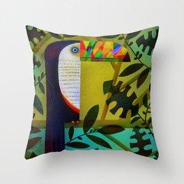 CONSPICUOUS BEAK Throw Pillow