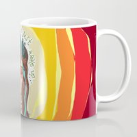 third eye Mugs featuring third eye by ivette mancilla