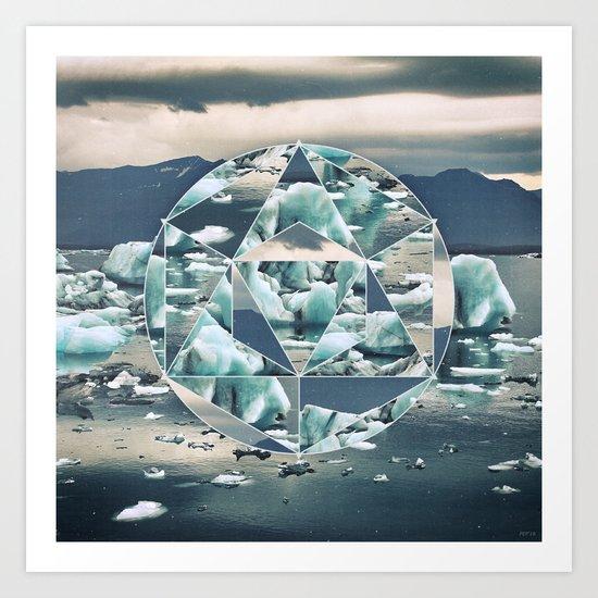 Geometric Icebergs Abstract Art Print