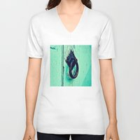 door V-neck T-shirts featuring Door by Mr and Mrs Quirynen