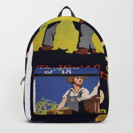 Vintage poster - Keep the Home Garden Going Backpack