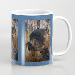 Regal Grunge Pitbull Staffordshire Terrier Face Closeup Coffee Mug
