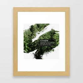 Slytherin Nature Framed Art Print
