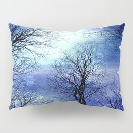 Midnight Trees Deep Blue Indigo Pillow Sham
