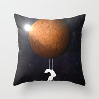 mars Throw Pillows featuring Mars by Cs025
