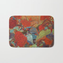 flower3【Japanese painting】 Bath Mat