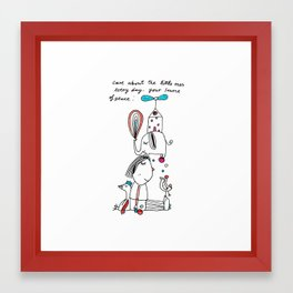 little ones Framed Art Print