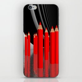 pencils - red iPhone Skin