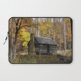 Smoky Mountain Rural Rustic Cabin Autumn View Laptop Sleeve