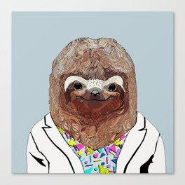 1980's Sloth Canvas Print