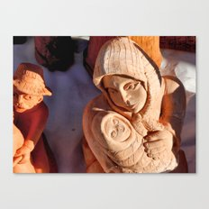 Pottery Fair Virgin Mary with Infant Jesus Canvas Print