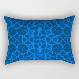 Agressive Blues Identity (Pattern Breaker 2019 Tiles Collection: M-1-01) Rectangular Pillow