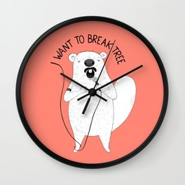 Beaver singing Queen | Animal Karaoke | Illustration | Red Wall Clock