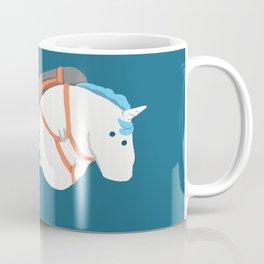 Fat Unicorn on Rainbow Jetpack Coffee Mug