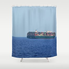 Athens Freighter Shower Curtain