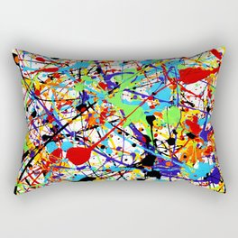 Splat! 1 (Rainbow) Rectangular Pillow