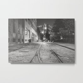 New York City Nights in Dumbo Metal Print