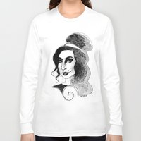amy hamilton Long Sleeve T-shirts featuring amy by chicco montanari