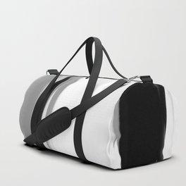 Soft Determination Black & White Duffle Bag