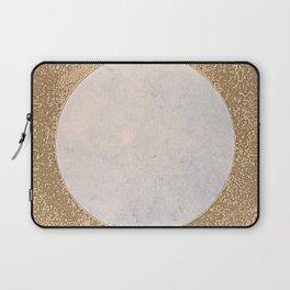 Avalon - Minimal Abstract Golden Moon Laptop Sleeve