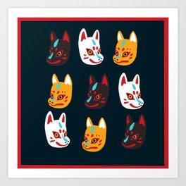 Kitsune Masks Art Print